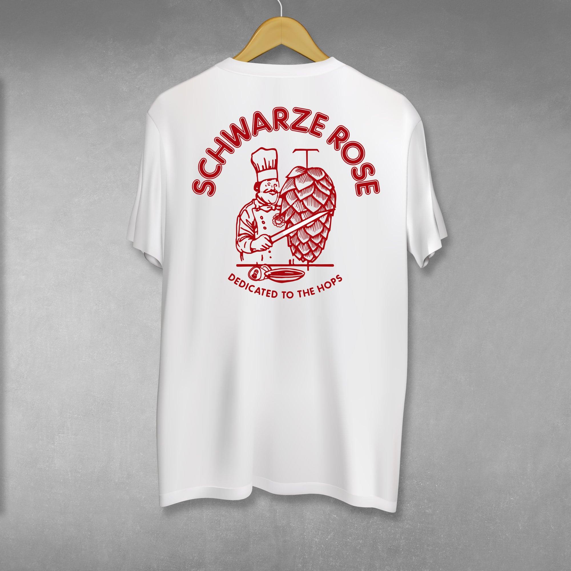Hopkebap T-Shirt Schwarze Rose