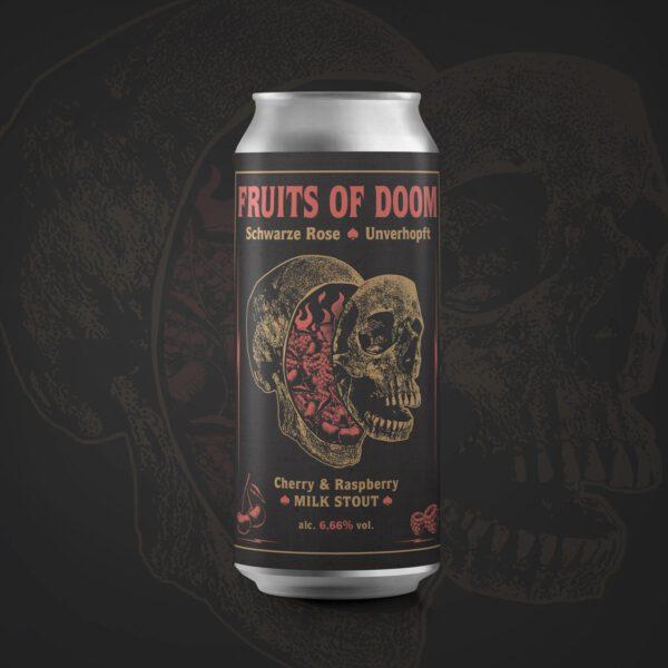 Fruits of Doom Cherry & Raspberry Milk Stout Schwarze Rose Unverhopft
